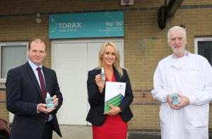 Economy Minister for Northern Ireland visits Mallusk Enterprise Park and meets tenants such as growing business Torax  photo